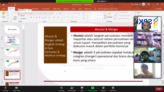 Training Merger & Acquisition and IPO ( Virtual Class )
