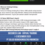 Business Law Training Desember 2020